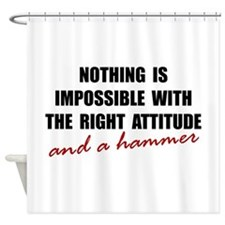 Attitude Hammer Shower Curtain