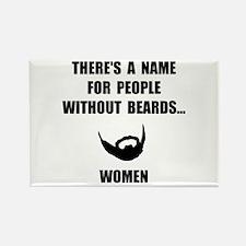 Beard Women Rectangle Magnet (10 pack)