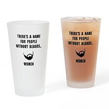 Beard Women Drinking Glass