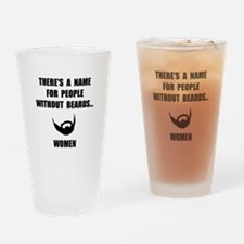 Beard Women Drinking Glass