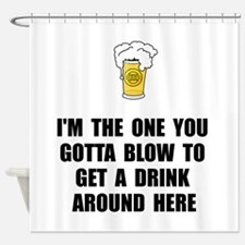 Blow Drink Shower Curtain