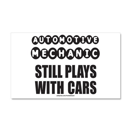 AUTO MECHANIC Car Magnet 20 x 12