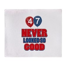 47 never looked so good Throw Blanket