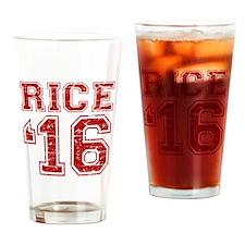 Rice 2016 Drinking Glass