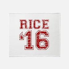 Rice 2016 Throw Blanket