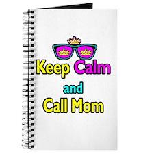 Crown Sunglasses Keep Calm And Call Mom Journal
