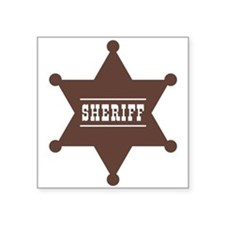 "Sheriff's Star Square Sticker 3"" x 3"""