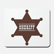 Sheriff's Star Mousepad