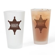 Sheriff's Star Drinking Glass