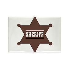 Sheriff's Star Rectangle Magnet