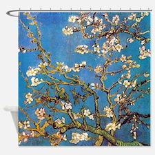 Van Gogh Almond Blossoms - Blue Shower Curtain