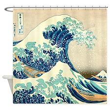 Great Wave off Kangawa by Hokusai Shower Curtain