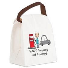 Gas Prices Canvas Lunch Bag
