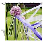 Lavender flower ball Shower Curtain