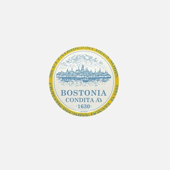 Boston Flag Shower Curtain Mini Button (10 pack)