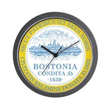 Boston Flag Shower Curtain Wall Clock