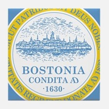 Boston Flag Shower Curtain Tile Coaster