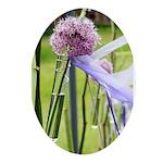 Lavender flower ball Ornament (Oval)