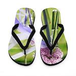 Lavender flower ball Flip Flops