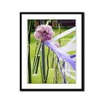 Lavender flower ball Framed Panel Print