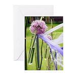 Lavender flower ball Greeting Cards (Pk of 20)