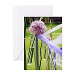 Lavender flower ball Greeting Card