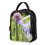 Lavender flower ball Neoprene Lunch Bag