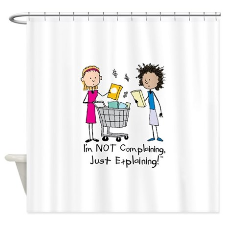 Grocery Shopping Shower Curtain By Not Complaining