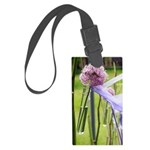 Lavender flower ball Large Luggage Tag
