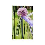 Lavender flower ball 3'x5' Area Rug
