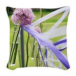 Lavender flower ball Woven Throw Pillow