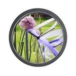 Lavender flower ball Wall Clock