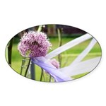 Lavender flower ball Sticker (Oval 10 pk)