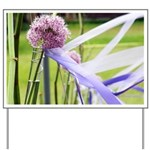 Lavender flower ball Yard Sign