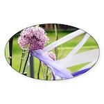 Lavender flower ball Sticker (Oval)