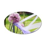 Lavender flower ball 35x21 Oval Wall Decal