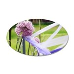 Lavender flower ball 20x12 Oval Wall Decal