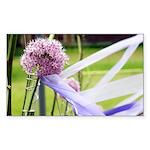 Lavender flower ball Sticker (Rectangle)