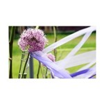 Lavender flower ball 35x21 Wall Decal