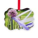 Lavender flower ball Picture Ornament