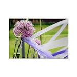 Lavender flower ball Rectangle Magnet (100 pack)