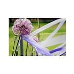 Lavender flower ball Rectangle Magnet (10 pack)