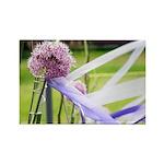 Lavender flower ball Rectangle Magnet