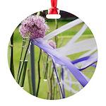 Lavender flower ball Round Ornament