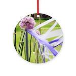 Lavender flower ball Ornament (Round)