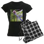 Lavender flower ball Women's Dark Pajamas