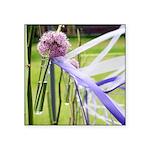 Lavender flower ball Square Sticker 3