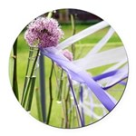 Lavender flower ball Round Car Magnet
