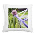 Lavender flower ball Square Canvas Pillow