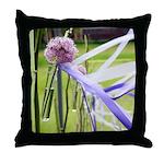 Lavender flower ball Throw Pillow